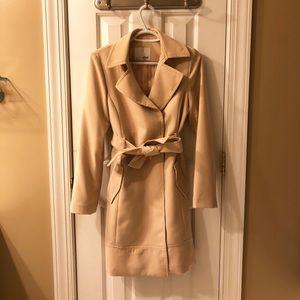 MIXXO Trench Coat - Blush Beige